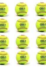 """barnett OSS-1 Tréninkový softbalový míč, velikost 12"""", žlutá, 12 ks"""