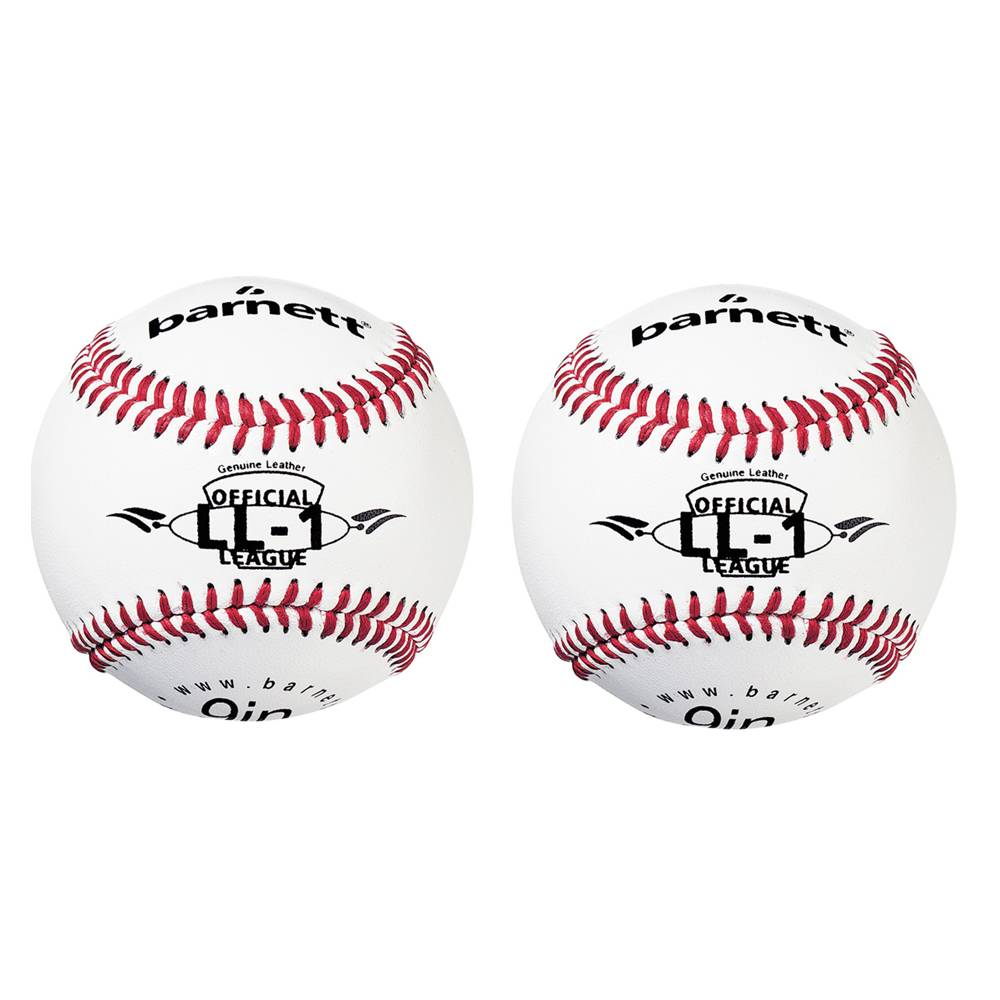 "barnett LL-1 Baseballový míč pro zápas a trénink, velikost 9"", bílá, 2 ks"