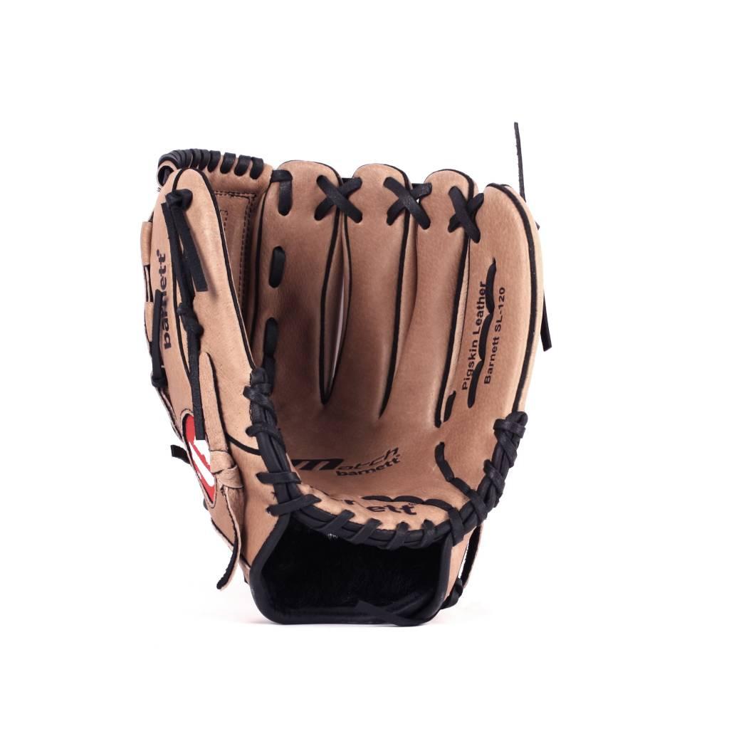 """barnett SL-120 Baseballová kožená rukavice infield/outfield, vel. 12"""", hnědá"""