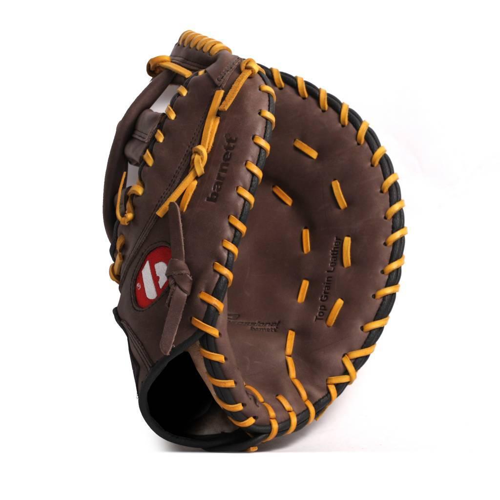"""barnett GL-301 Soutěžní kožená baseballová rukavice, first base 31"""", hnědá"""