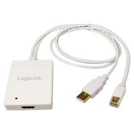 Logilink Adapter DisplayPort mini 1.1a + USB --> HDMI