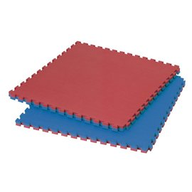 2 Cm Puzzelmatten Rood Blauw streepmotief