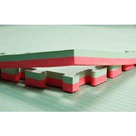 2 Cm Puzzelmatten Rood groen rijstmotief