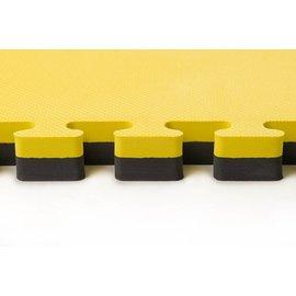 2 Cm Puzzelmatten geel zwart kruismotief
