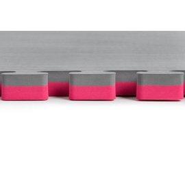 4 Cm Puzzelmatten Grijs / licht Rood rijstmotief