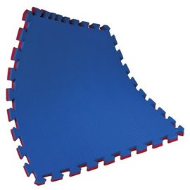4 m² puzzelmatten rood blauw 2 Cm dik