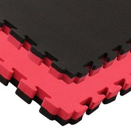 2,5 Cm Puzzelmat rood zwart kruismotief