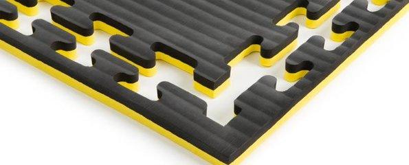 Puzzelmatten geel zwart