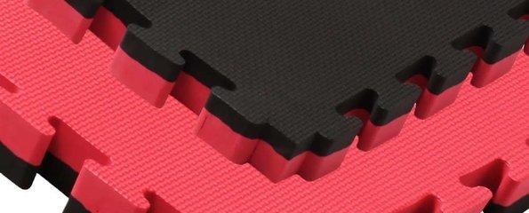 Puzzelmatten rood zwart