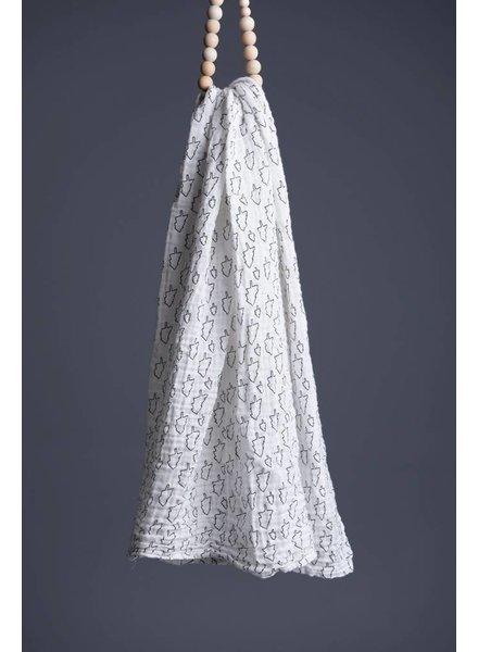 Wee Gallery XL Hydrofieldoek - Zwart Wit