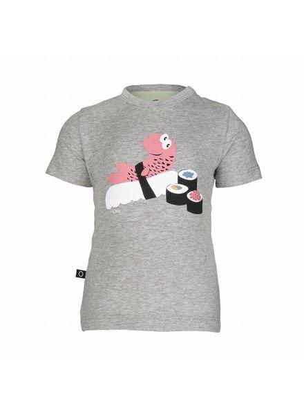 nOeser nOeser T-shirt Teske - Grijs Sushi