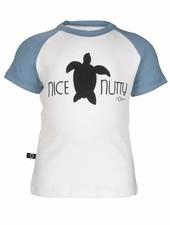 nOeser nOeser T-shirt Teun - Wit Blauw