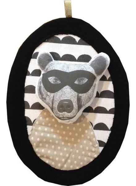 Minimel wanddecoratie  'gemaskerde beer' - Minimel