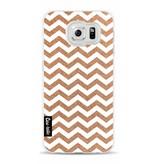 Casetastic Softcover Samsung Galaxy S6 - Copper Chevron