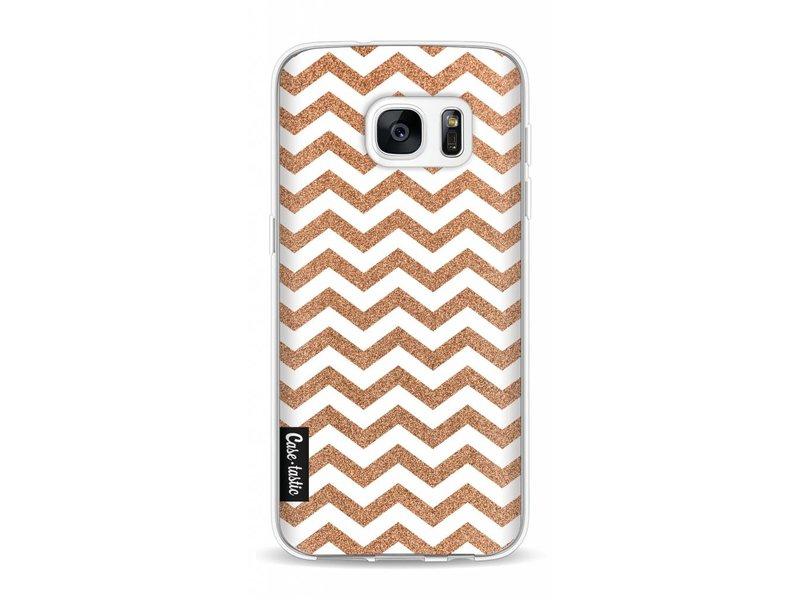 Casetastic Softcover Samsung Galaxy S7 - Copper Chevron
