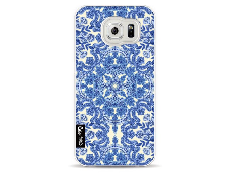 Casetastic Softcover Samsung Galaxy S6 - Blue White Folk Art