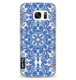 Casetastic Softcover Samsung Galaxy S7 - Blue White Folk Art