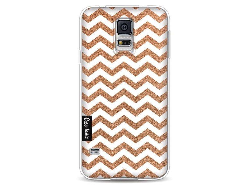 Casetastic Softcover Samsung Galaxy S5 - Copper Chevron