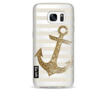 Glitter Anchor Gold - Samsung Galaxy S7