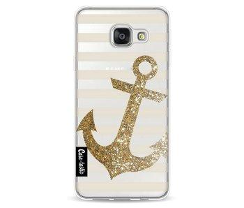 Glitter Anchor Gold - Samsung Galaxy A3 (2016)