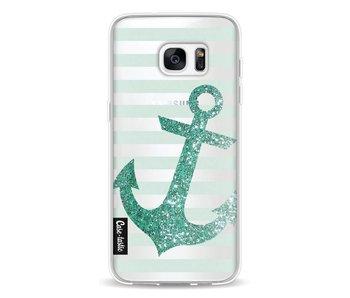 Glitter Anchor Mint - Samsung Galaxy S7 Edge