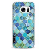 Casetastic Softcover Samsung Galaxy S7 - Aqua Moroccan Tiles