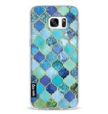 Casetastic Softcover Samsung Galaxy S7 Edge - Aqua Moroccan Tiles