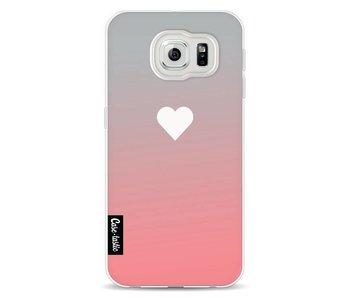 Peach Heart Fade - Samsung Galaxy S6