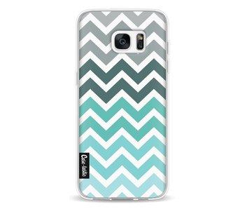 Tiffany Fade Chevron - Samsung Galaxy S7 Edge