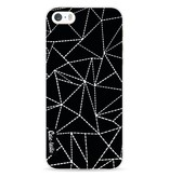 Casetastic Softcover Apple iPhone 5 / 5s / SE - Abstract Dotted Lines Black