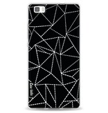 Casetastic Softcover Huawei P8 Lite - Abstract Dotted Lines Black
