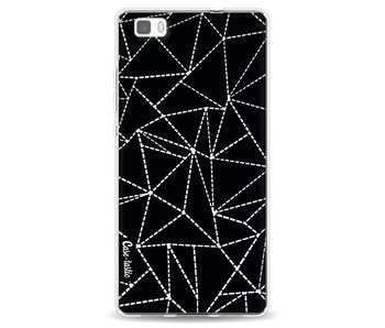 Abstract Dotted Lines Black - Huawei P8 Lite