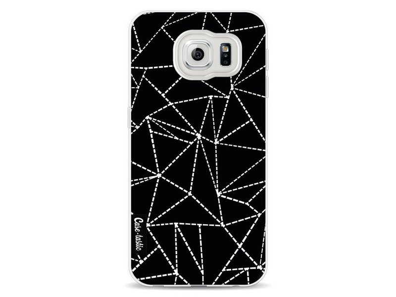 Casetastic Softcover Samsung Galaxy S6 - Abstract Dotted Lines Black