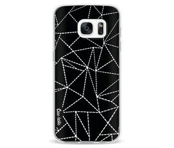 Abstract Dotted Lines Black - Samsung Galaxy S7