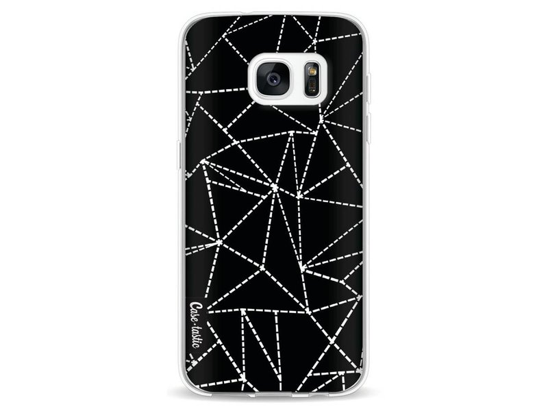 Casetastic Softcover Samsung Galaxy S7 - Abstract Dotted Lines Black