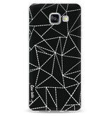 Casetastic Softcover Samsung Galaxy A5 (2016) - Abstract Dotted Lines Black