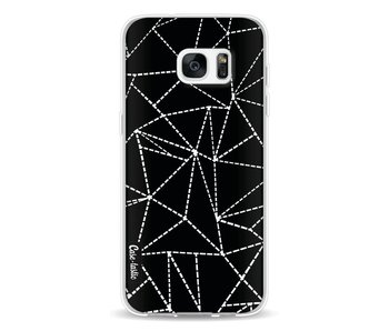 Abstract Dotted Lines Black - Samsung Galaxy S7 Edge