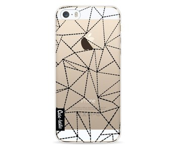 Abstract Dotted Lines Black Transparent - Apple iPhone 5 / 5s / SE