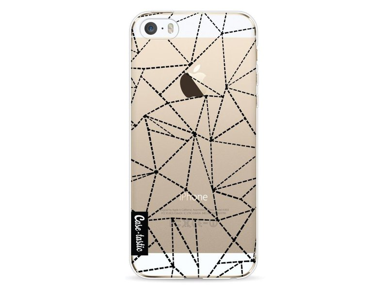 Casetastic Softcover Apple iPhone 5 / 5s / SE - Abstract Dotted Lines Black Transparent