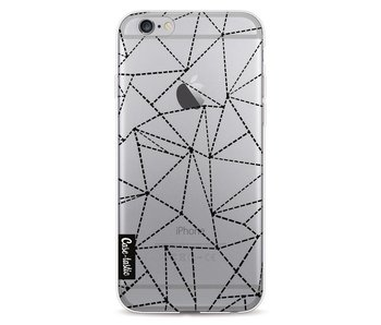 Abstract Dotted Lines Black Transparent - Apple iPhone 6 / 6s