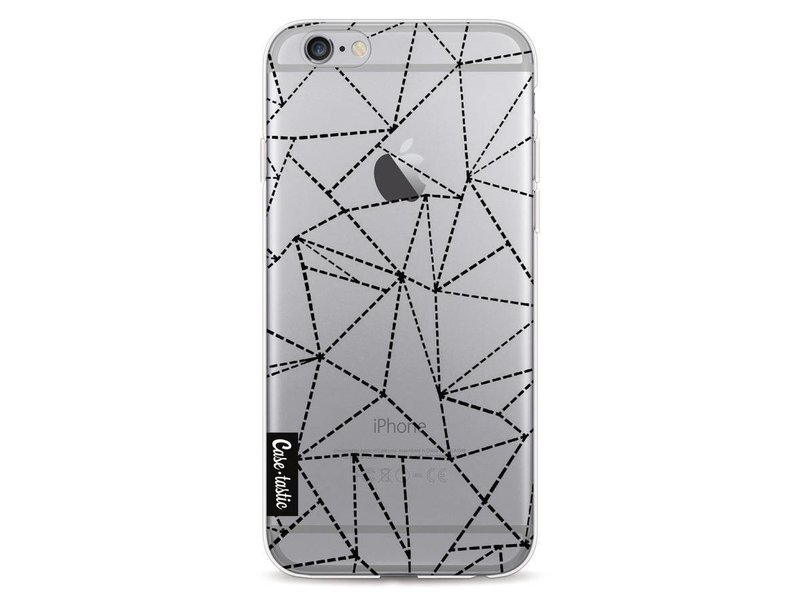 Casetastic Softcover Apple iPhone 6 / 6s  - Abstract Dotted Lines Black Transparent