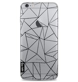 Casetastic Softcover Apple iPhone 6 Plus / 6s Plus - Abstract Dotted Lines Black Transparent