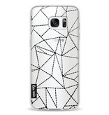 Casetastic Softcover Samsung Galaxy S7 Edge - Abstract Dotted Lines Black Transparent