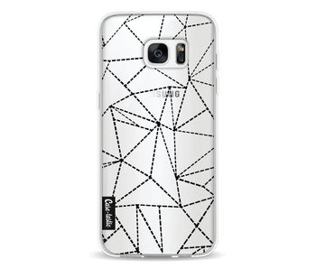 Abstract Dotted Lines Black Transparent - Samsung Galaxy S7 Edge