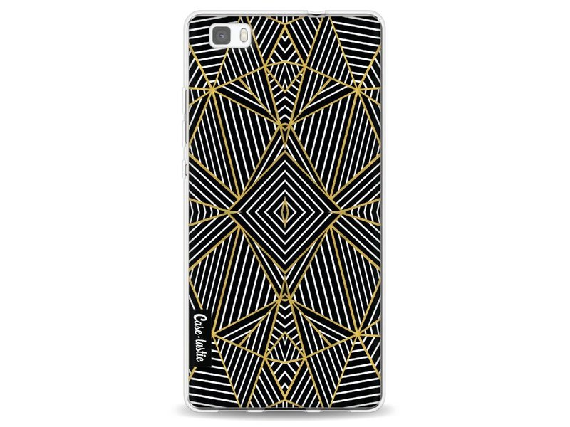 Casetastic Softcover Huawei P8 Lite - Abstraction Half Gold