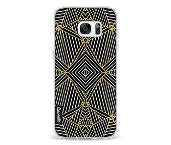 Abstraction Half Gold - Samsung Galaxy S7 Edge