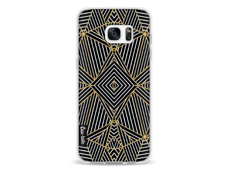 Casetastic Softcover Samsung Galaxy S7 Edge - Abstraction Half Gold