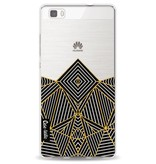 Casetastic Softcover Huawei P8 Lite - Abstraction Half Transparent