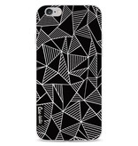 Casetastic Softcover Apple iPhone 6 / 6s  - Abstraction Lines Black
