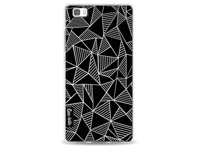 Casetastic Softcover Huawei P8 Lite - Abstraction Lines Black